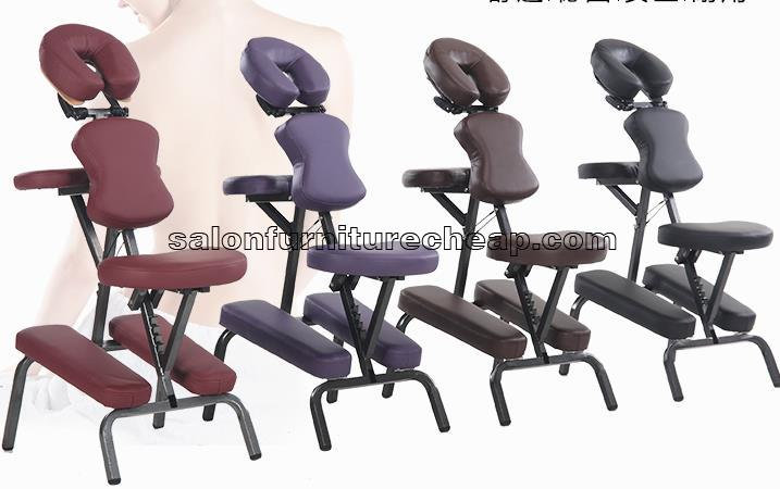 Leather portable massage therapy chair