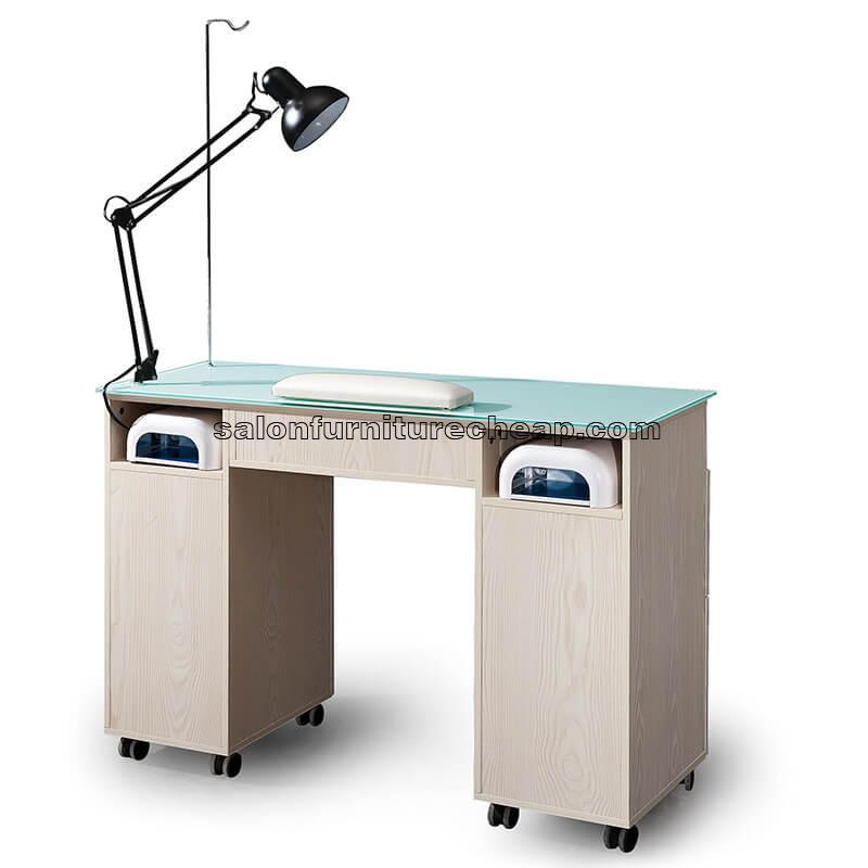 Manicure Table With Adjustable Lamp