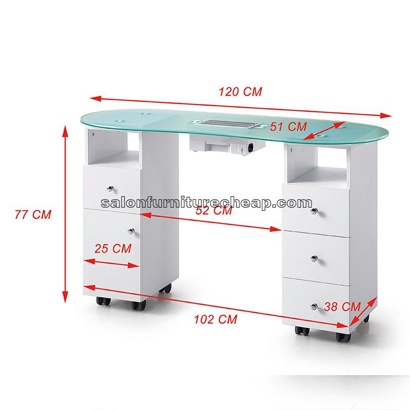 Nail Table With Dust Collector
