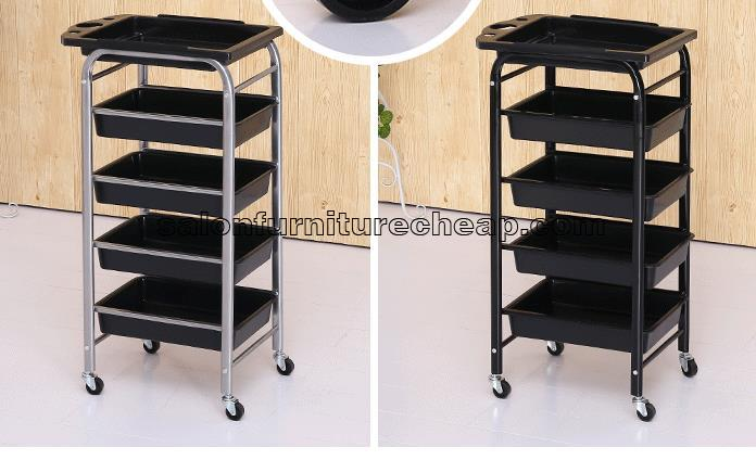 Mobile hairdressing trolley