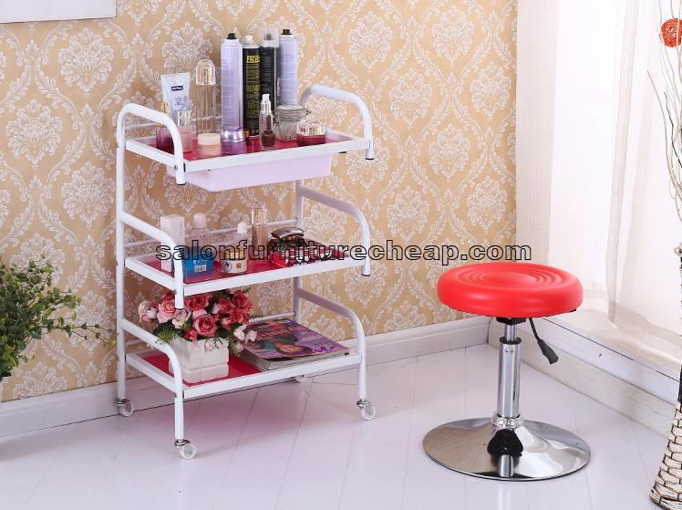 Hairdressing trolleys on wheels