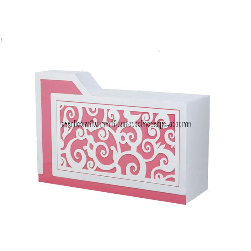 Creative carved cheap pink reception desk