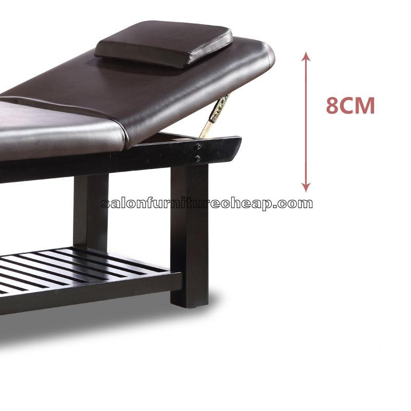 Wooden stationary massage table