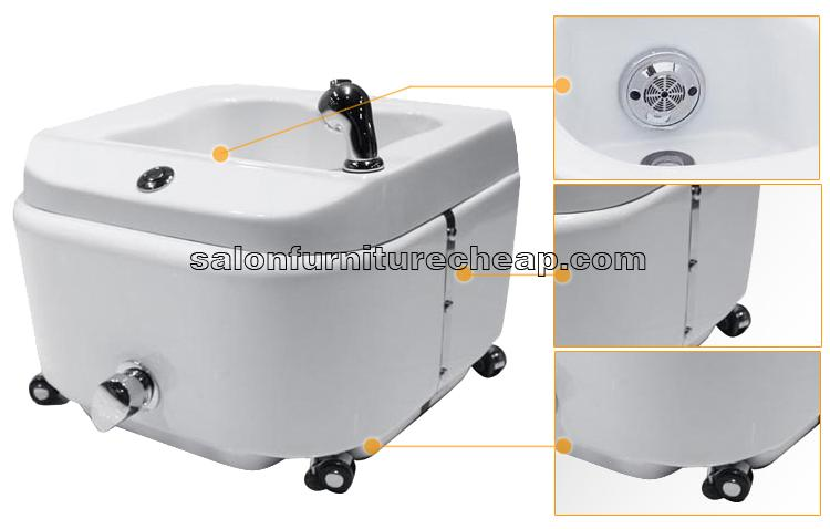 Mini spa tub for pedicure chair