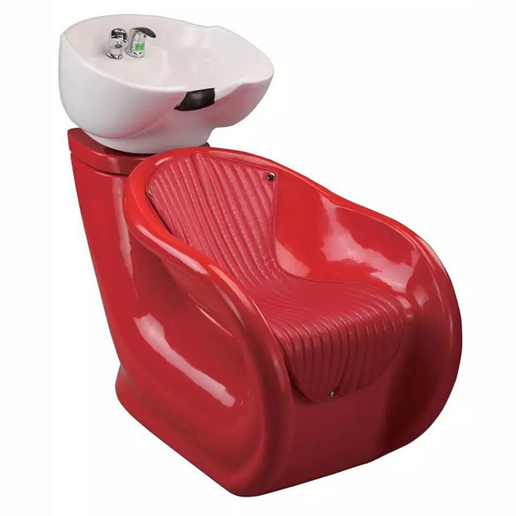 Barber shop equipment hair wash chair shampoo chair with fiberglass base