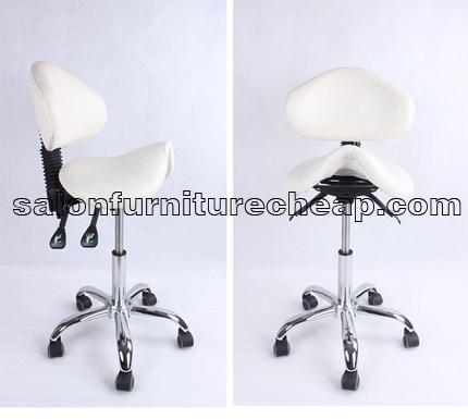 Leather Saddle Ergonomic Seat Chair