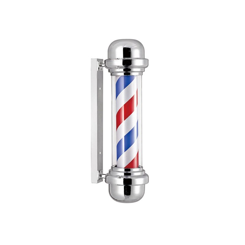 Rotating outdoor led barber shop pole lights