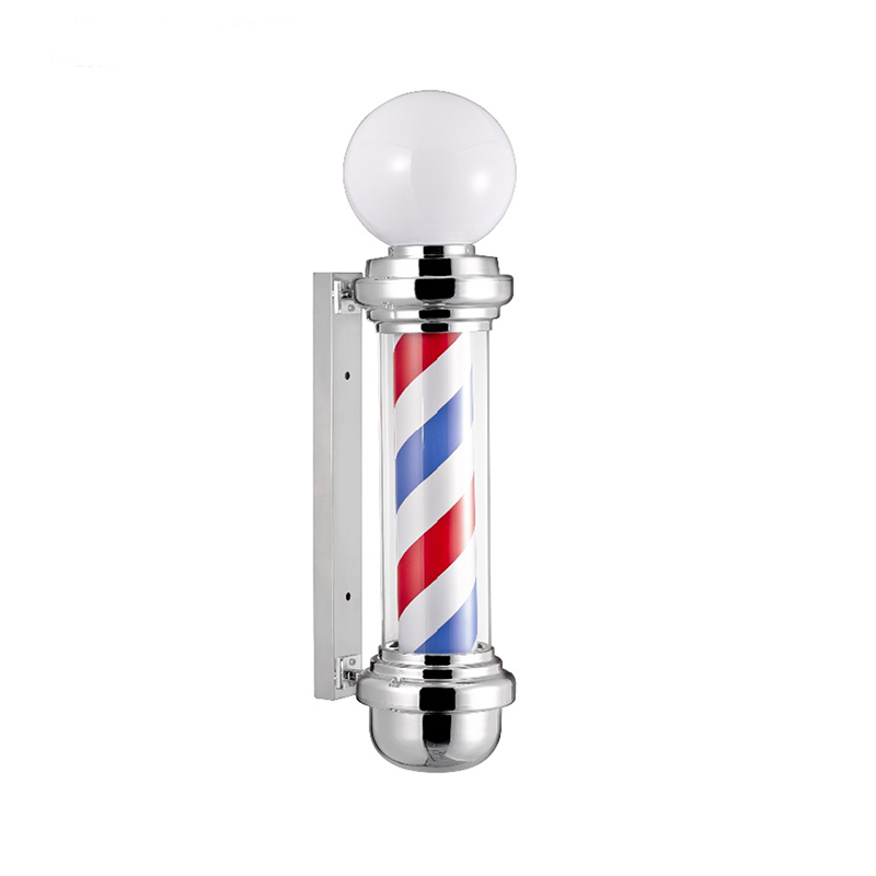 Barber spiral stripes pole sign