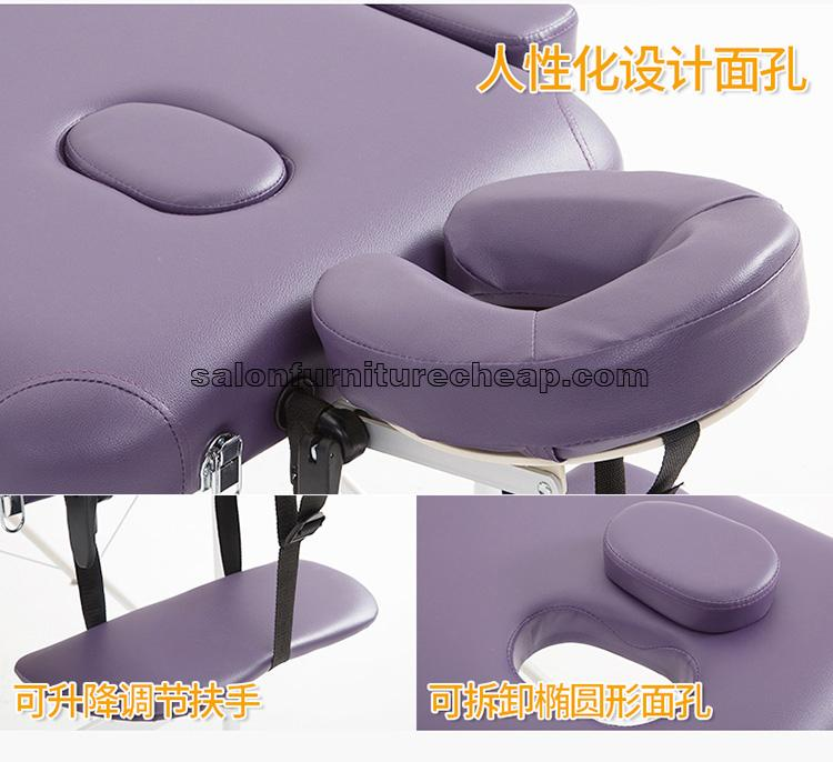 Portable beauty bed adjustable massage couch