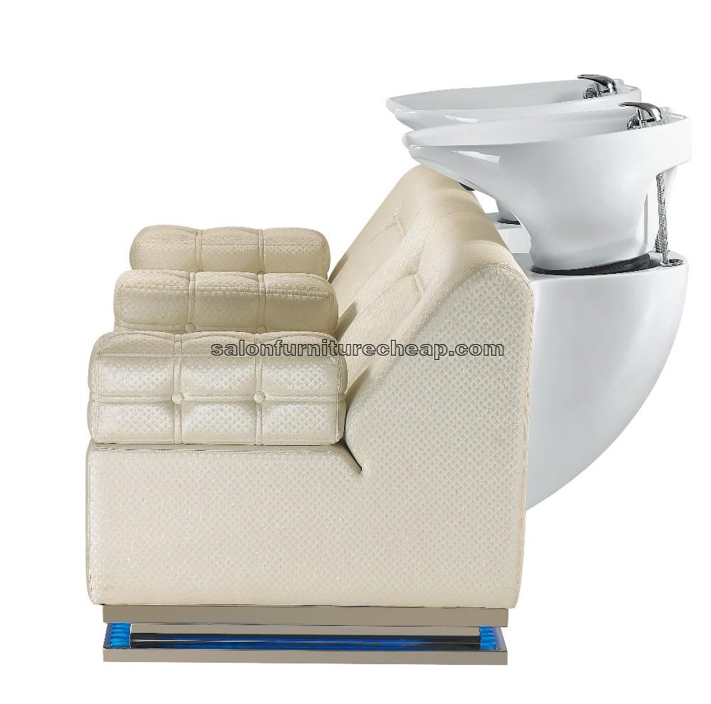 Double seats hair wash chair shampoo beds