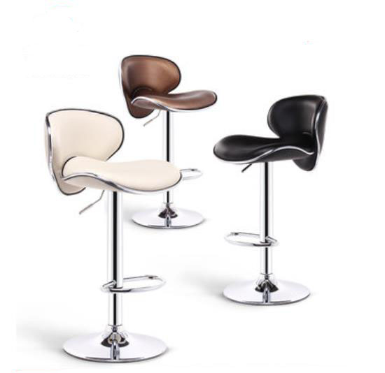 Metal bar stools with backs