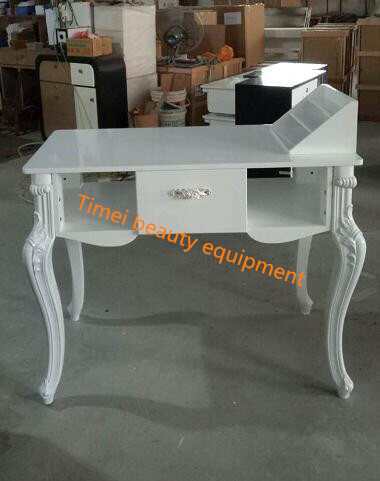 Nail furniture white manicure table