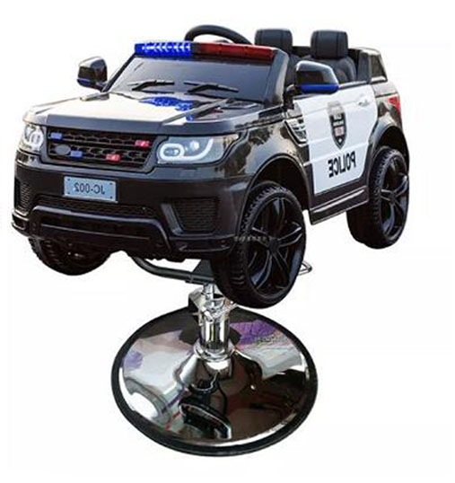 Kids police car barber chair
