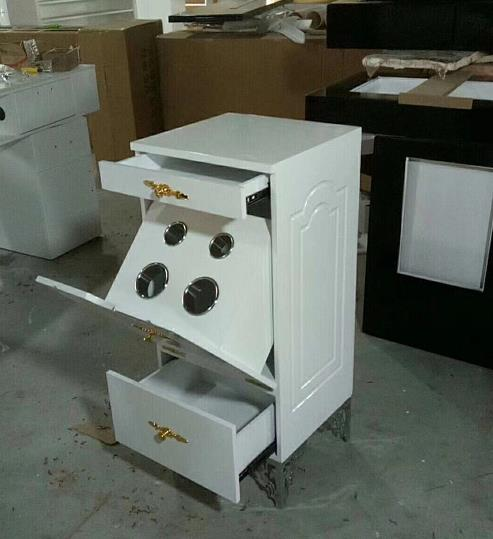 White salon cart with drawers