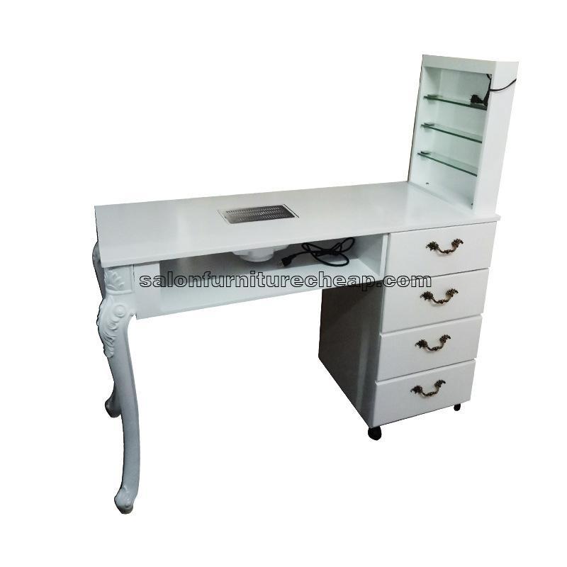 White Manicure Table Nail Desk
